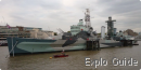 HMS Belfast Cruiser and war museum, London