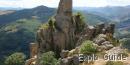 Ruins of Rochebonne castle, Ardèche