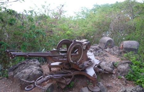 Anti-Aircraft gun, Mount Phu Si, Luang Prabang