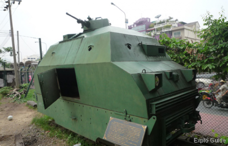 Bangkok Railway Station armoured train