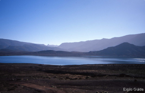 Tislit and Isli lakes, Imilchil, Atlas